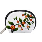Flower Branch Nature Leaves Plant Accessory Pouches (Small)