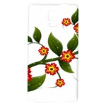 Flower Branch Nature Leaves Plant Galaxy Note 4 Back Case