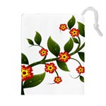 Flower Branch Nature Leaves Plant Drawstring Pouches (Extra Large)