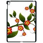 Flower Branch Nature Leaves Plant Apple iPad Pro 9.7   Black Seamless Case