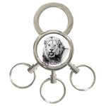 Lion Wildlife Art And Illustration Pencil 3-Ring Key Chains