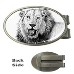 Lion Wildlife Art And Illustration Pencil Money Clips (Oval)