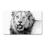 Lion Wildlife Art And Illustration Pencil Magnet (Rectangular)