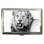 Lion Wildlife Art And Illustration Pencil Cigarette Money Cases