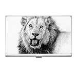 Lion Wildlife Art And Illustration Pencil Business Card Holders