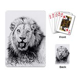 Lion Wildlife Art And Illustration Pencil Playing Card