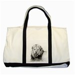 Lion Wildlife Art And Illustration Pencil Two Tone Tote Bag