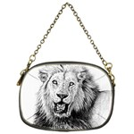 Lion Wildlife Art And Illustration Pencil Chain Purses (One Side)