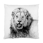 Lion Wildlife Art And Illustration Pencil Standard Cushion Case (One Side)