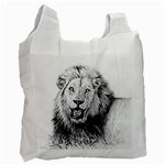 Lion Wildlife Art And Illustration Pencil Recycle Bag (One Side)
