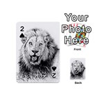 Lion Wildlife Art And Illustration Pencil Playing Cards 54 (Mini)