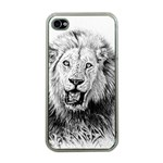 Lion Wildlife Art And Illustration Pencil Apple iPhone 4 Case (Clear)