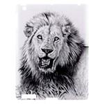 Lion Wildlife Art And Illustration Pencil Apple iPad 3/4 Hardshell Case