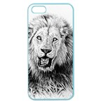 Lion Wildlife Art And Illustration Pencil Apple Seamless iPhone 5 Case (Color)