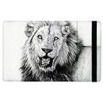 Lion Wildlife Art And Illustration Pencil Apple iPad 3/4 Flip Case
