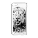 Lion Wildlife Art And Illustration Pencil Apple iPod Touch 5 Case (White)