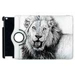 Lion Wildlife Art And Illustration Pencil Apple iPad 2 Flip 360 Case