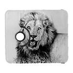 Lion Wildlife Art And Illustration Pencil Galaxy S3 (Flip/Folio)
