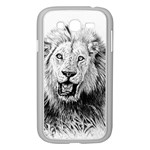 Lion Wildlife Art And Illustration Pencil Samsung Galaxy Grand DUOS I9082 Case (White)