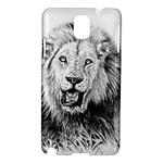 Lion Wildlife Art And Illustration Pencil Samsung Galaxy Note 3 N9005 Hardshell Case