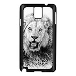 Lion Wildlife Art And Illustration Pencil Samsung Galaxy Note 3 N9005 Case (Black)