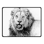 Lion Wildlife Art And Illustration Pencil Double Sided Fleece Blanket (Small)