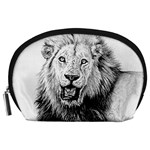 Lion Wildlife Art And Illustration Pencil Accessory Pouches (Large)