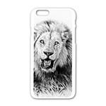 Lion Wildlife Art And Illustration Pencil Apple iPhone 6/6S White Enamel Case