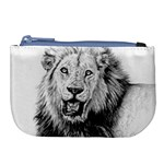 Lion Wildlife Art And Illustration Pencil Large Coin Purse
