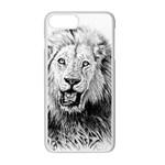 Lion Wildlife Art And Illustration Pencil Apple iPhone 7 Plus Seamless Case (White)
