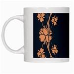 Floral Vintage Royal Frame Pattern White Mugs