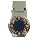 Floral Vintage Royal Frame Pattern Money Clip Watches