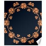 Floral Vintage Royal Frame Pattern Canvas 8  x 10