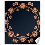 Floral Vintage Royal Frame Pattern Canvas 16  x 20