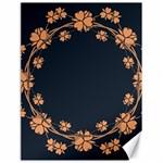 Floral Vintage Royal Frame Pattern Canvas 18  x 24