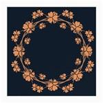 Floral Vintage Royal Frame Pattern Medium Glasses Cloth