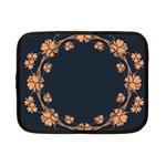 Floral Vintage Royal Frame Pattern Netbook Case (Small)
