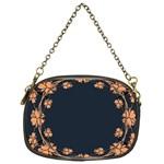 Floral Vintage Royal Frame Pattern Chain Purses (One Side)