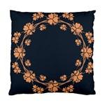 Floral Vintage Royal Frame Pattern Standard Cushion Case (One Side)