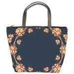 Floral Vintage Royal Frame Pattern Bucket Bags