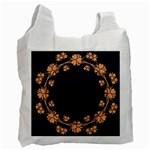 Floral Vintage Royal Frame Pattern Recycle Bag (Two Side)