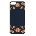 Floral Vintage Royal Frame Pattern Apple iPhone 5 Seamless Case (White)
