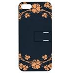 Floral Vintage Royal Frame Pattern Apple iPhone 5 Hardshell Case with Stand