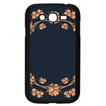 Floral Vintage Royal Frame Pattern Samsung Galaxy Grand DUOS I9082 Case (Black)