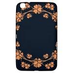 Floral Vintage Royal Frame Pattern Samsung Galaxy Tab 3 (8 ) T3100 Hardshell Case