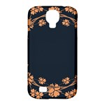 Floral Vintage Royal Frame Pattern Samsung Galaxy S4 Classic Hardshell Case (PC+Silicone)