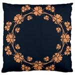 Floral Vintage Royal Frame Pattern Standard Flano Cushion Case (One Side)