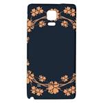 Floral Vintage Royal Frame Pattern Galaxy Note 4 Back Case