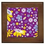 Floral Flowers Framed Tiles