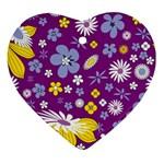 Floral Flowers Ornament (Heart)